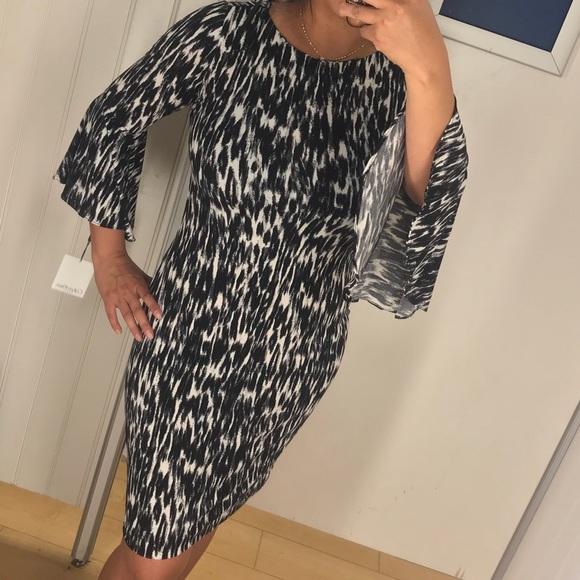 Calvin Klein Dresses & Skirts - Calvin Klein bell-sleeve Animal Print dress